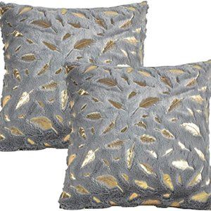 JOTOM Pack of 2 Luxury Series Decorative Throw Pil